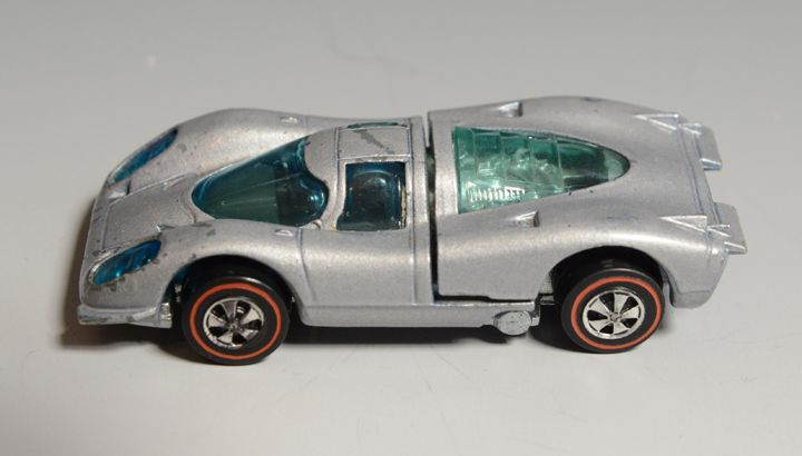Hot Wheels Redline Porsche 917, silver, 1969