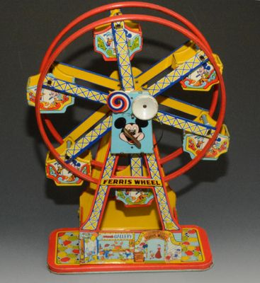 Chein Mickey Mouse Ferris Wheel, EXCELLENT