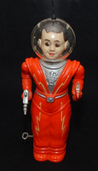 Irwin Spaceman, plastic windup, Nice!