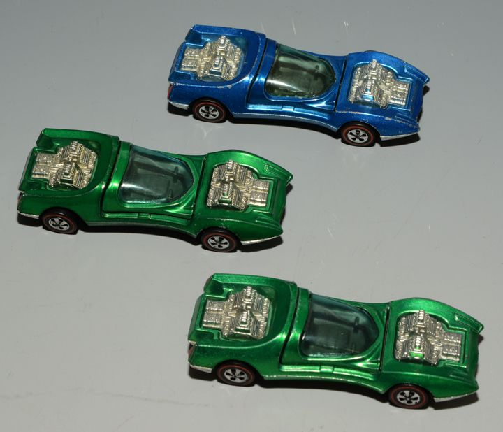 Hot Wheels Redline Mod Quad group (3), 1969 Hong Kong