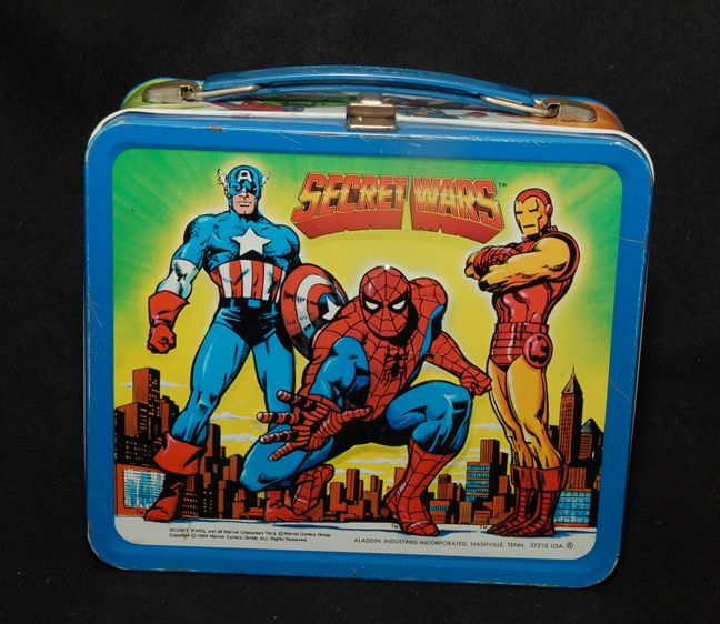 Secret Wars Lunch Box, Marvel comics 1984, Aladdin