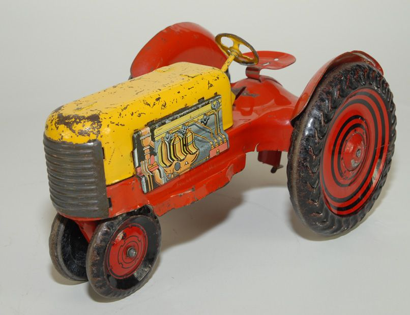 Marx Tractor, Pressed Steel, Large